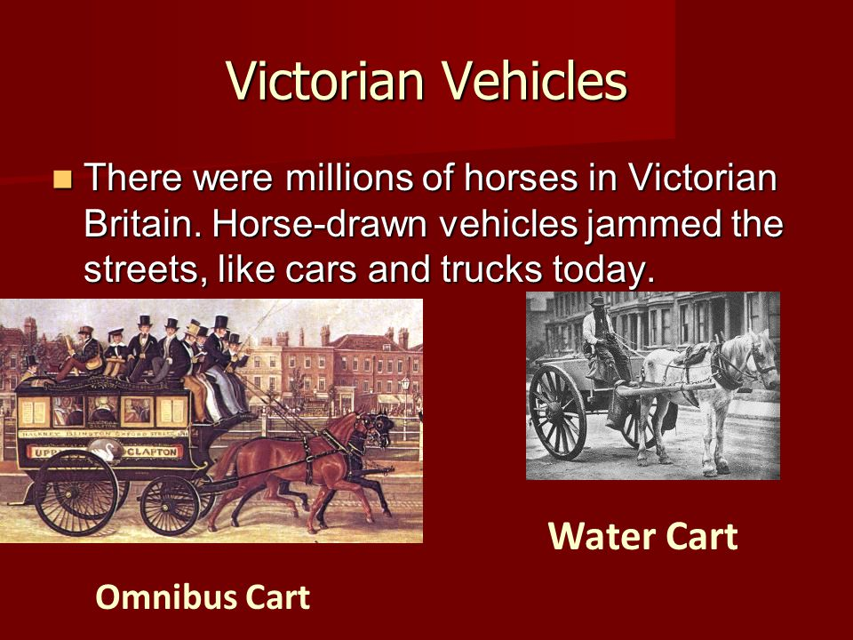 Victorian Vehicles Water Cart