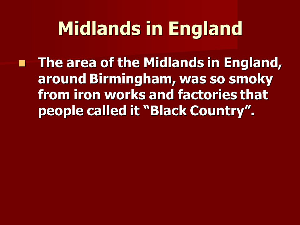 Midlands in England