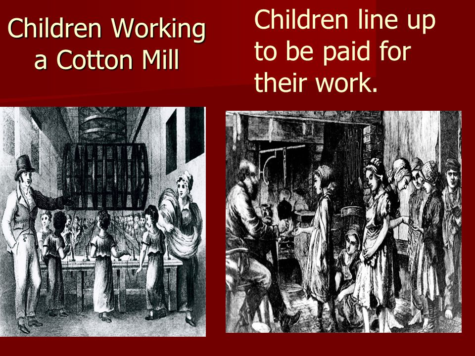 Children Working a Cotton Mill