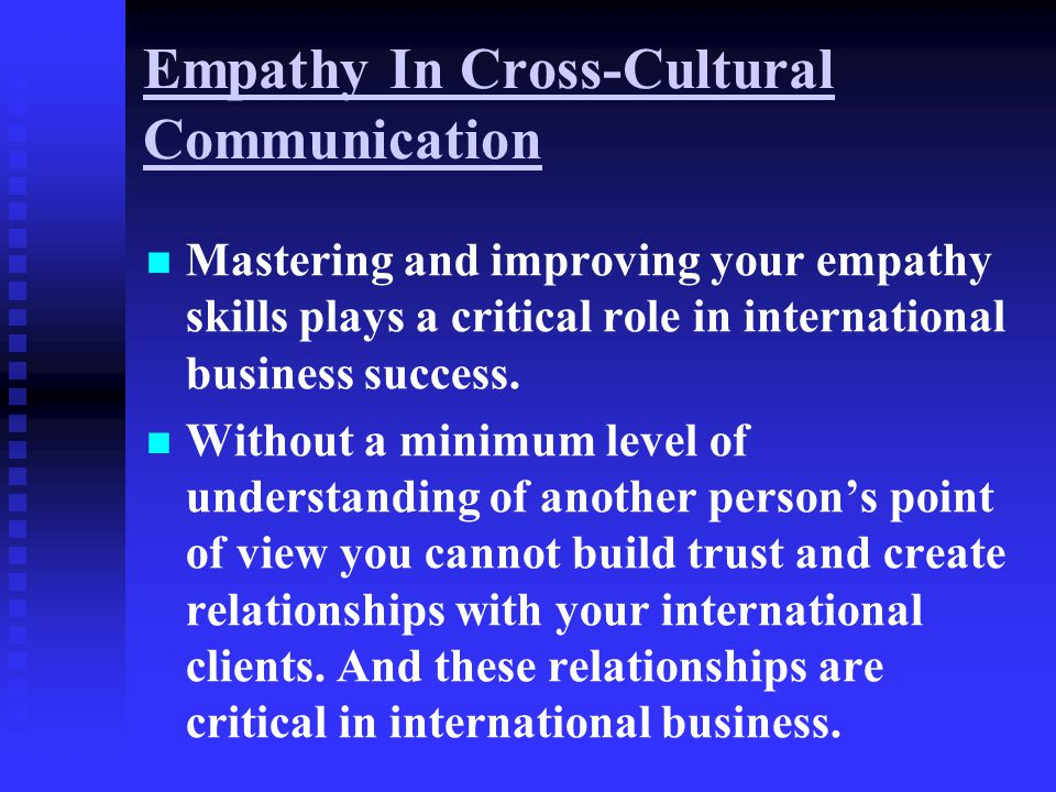 Empathy In Cross-Cultural Communication