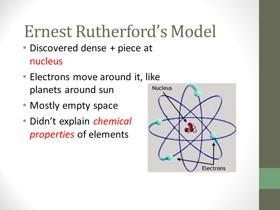 Ernest Rutherford's Model