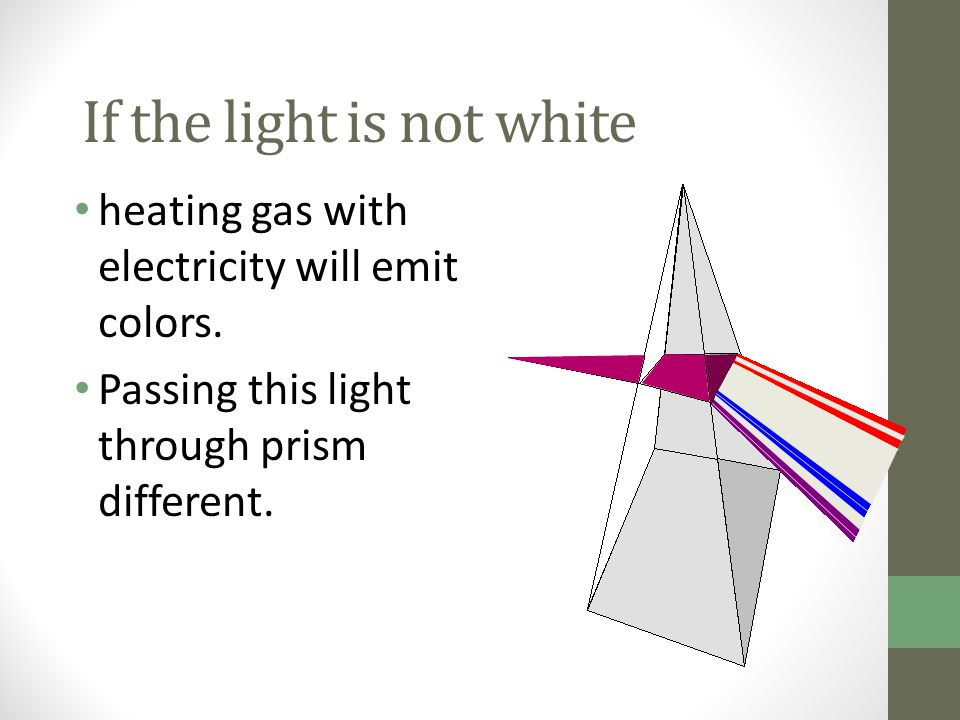 If the light is not white