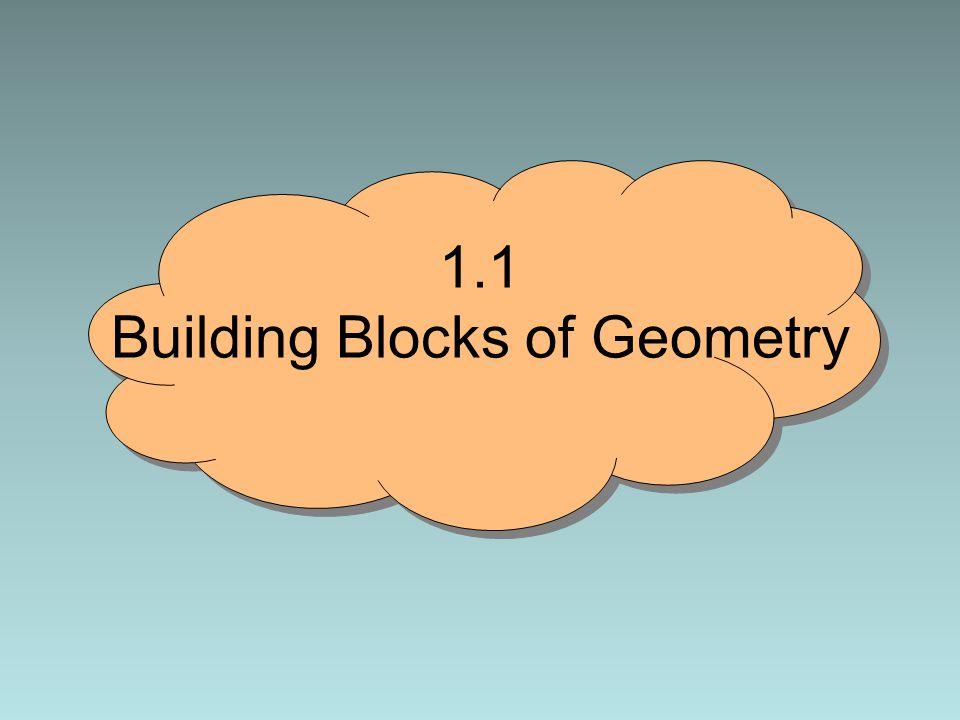 1.1 Building Blocks of Geometry