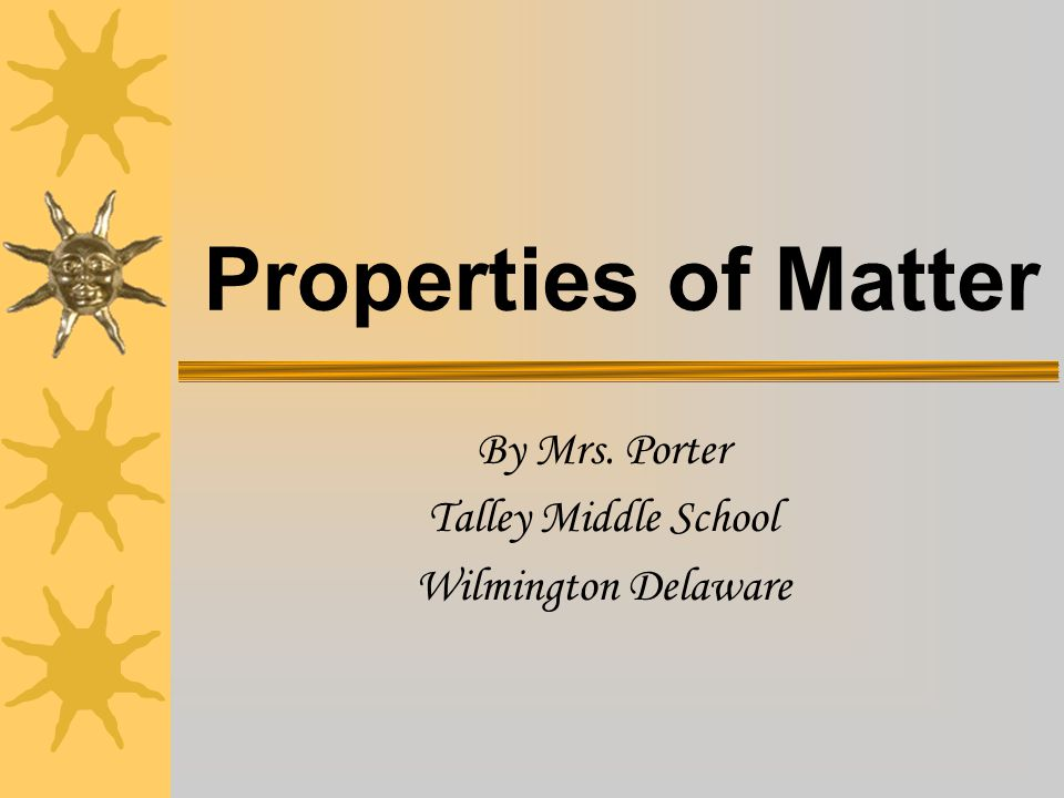 By Mrs. Porter Talley Middle School Wilmington Delaware