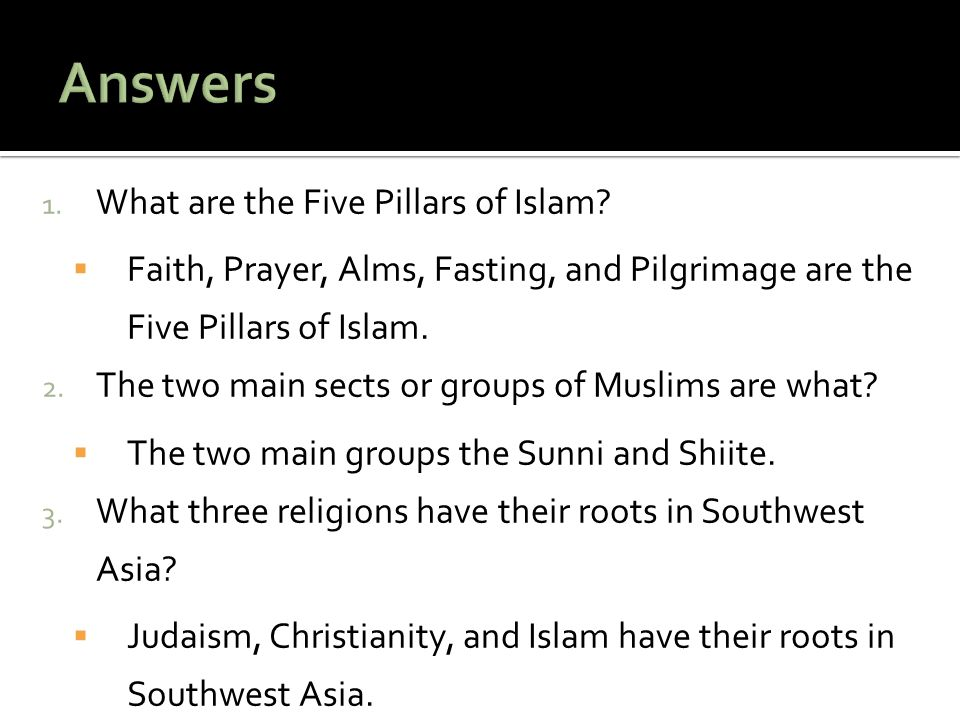 Answers What are the Five Pillars of Islam