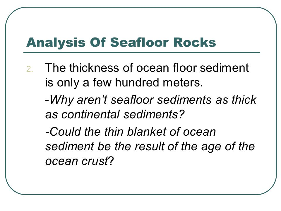 Analysis Of Seafloor Rocks
