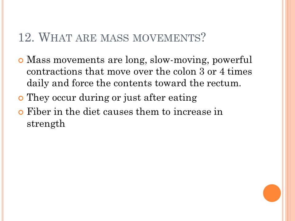 12. What are mass movements