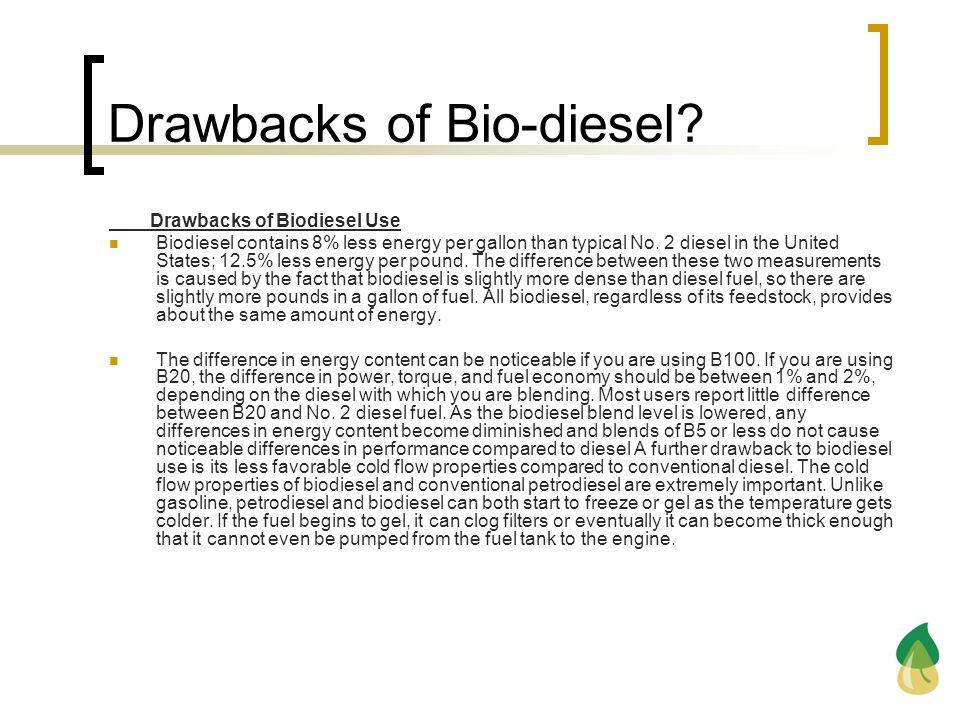 Drawbacks of Bio-diesel