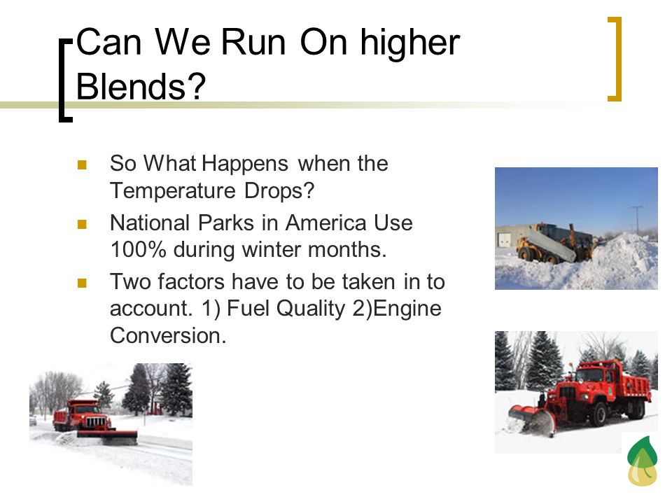Can We Run On higher Blends