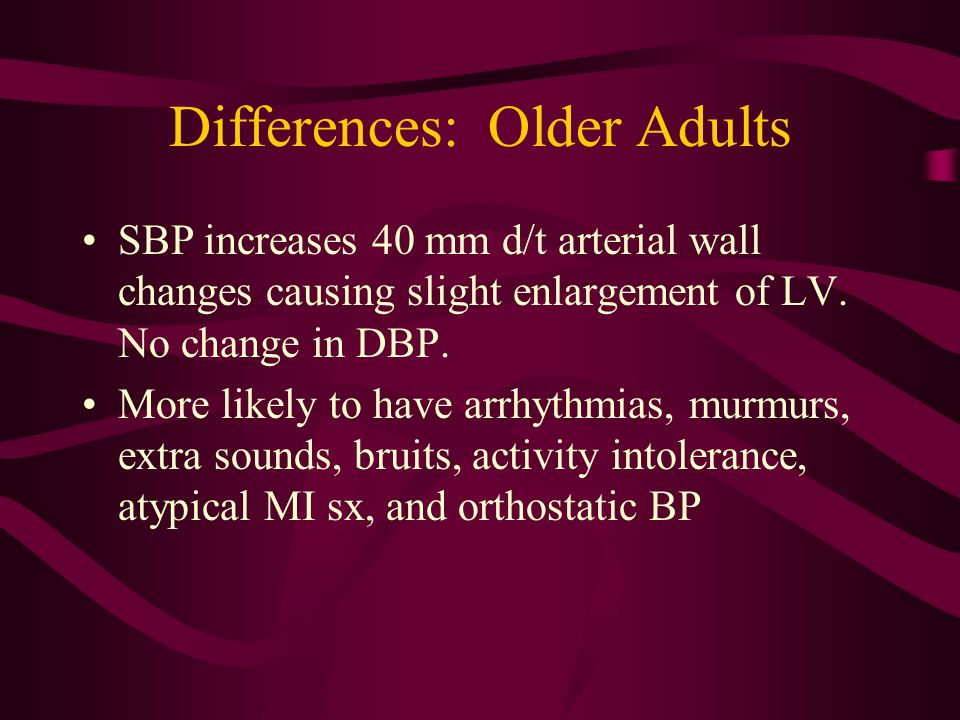 Differences: Older Adults