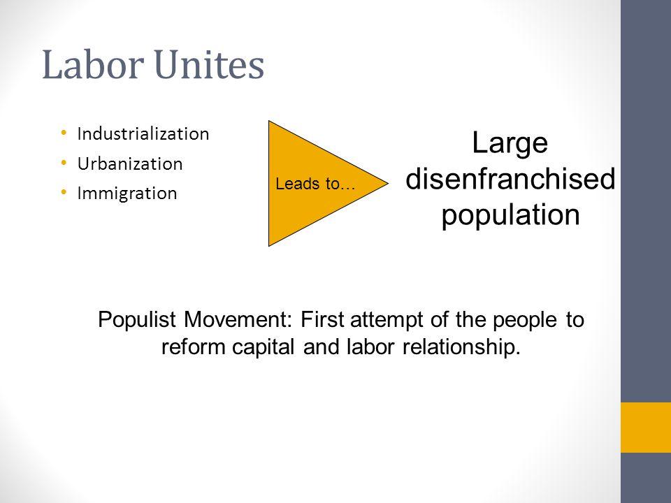 Large disenfranchised population