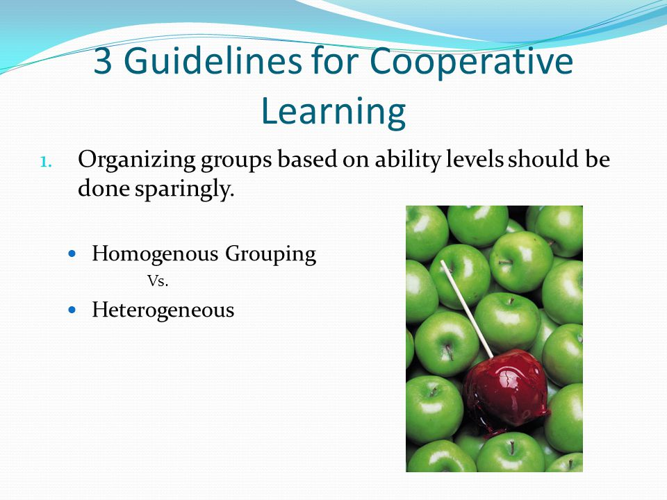 3 Guidelines for Cooperative Learning