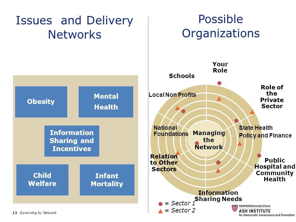 Issues and Delivery Networks Possible Organizations