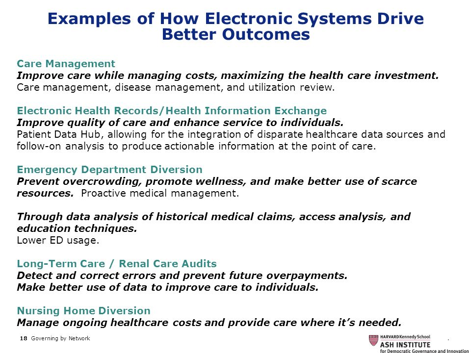 Examples of How Electronic Systems Drive Better Outcomes