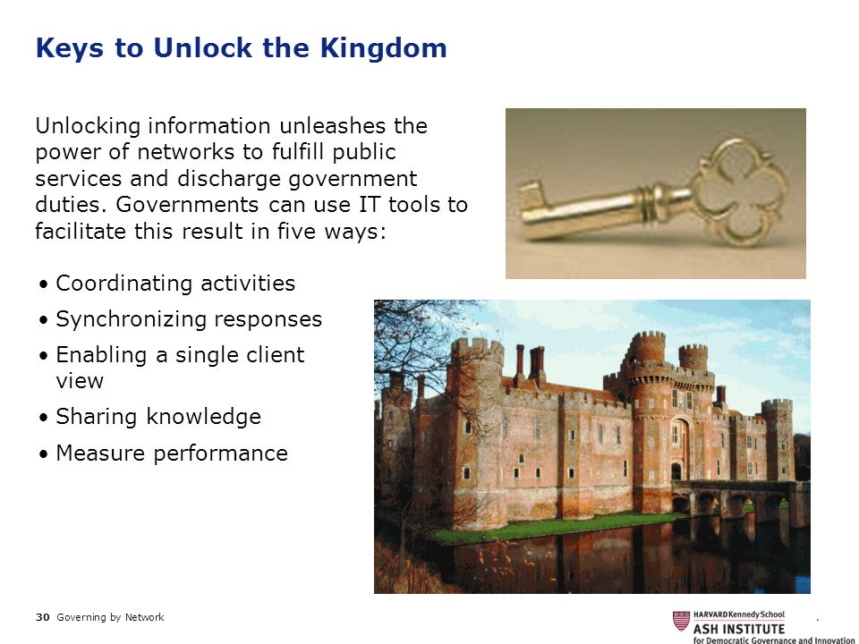 Keys to Unlock the Kingdom
