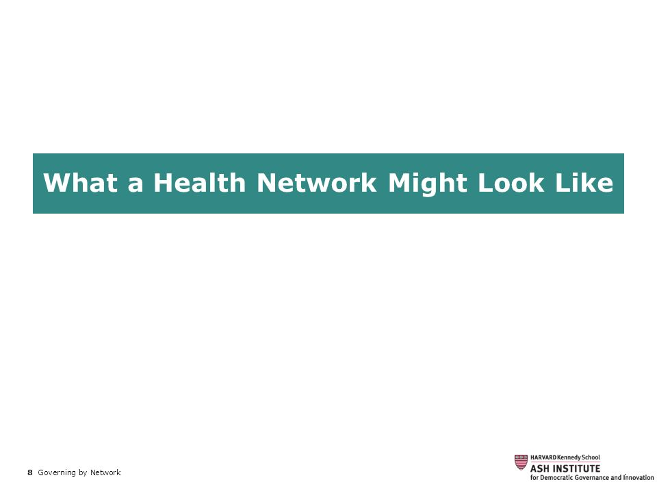 What a Health Network Might Look Like