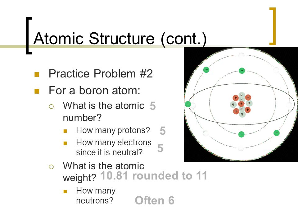 Atomic Structure (cont.)
