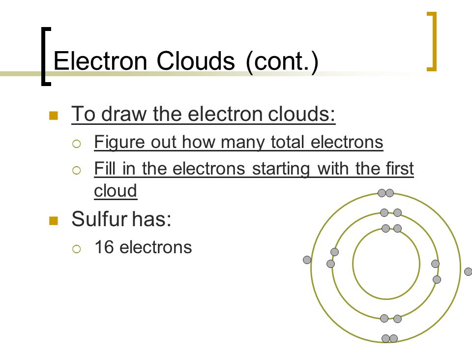 Electron Clouds (cont.)