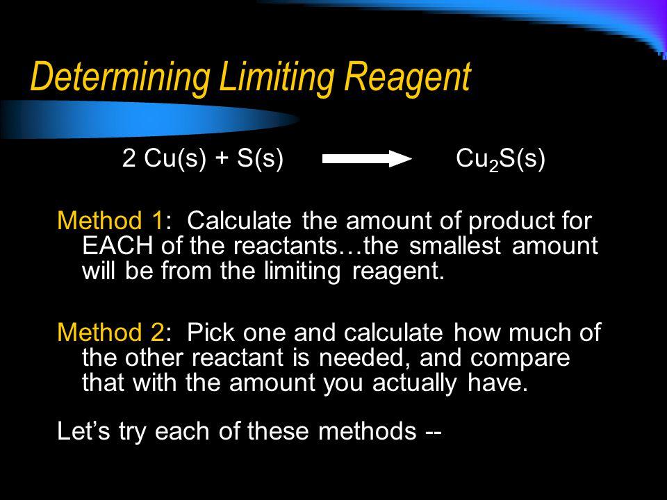 Determining Limiting Reagent