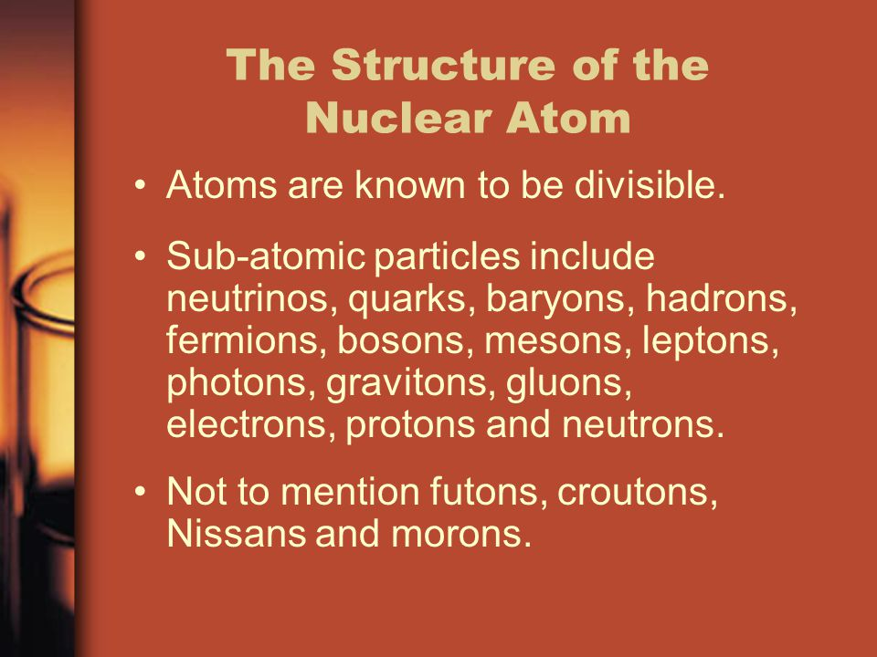 The Structure of the Nuclear Atom