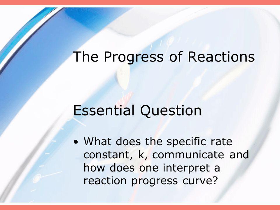 The Progress of Reactions