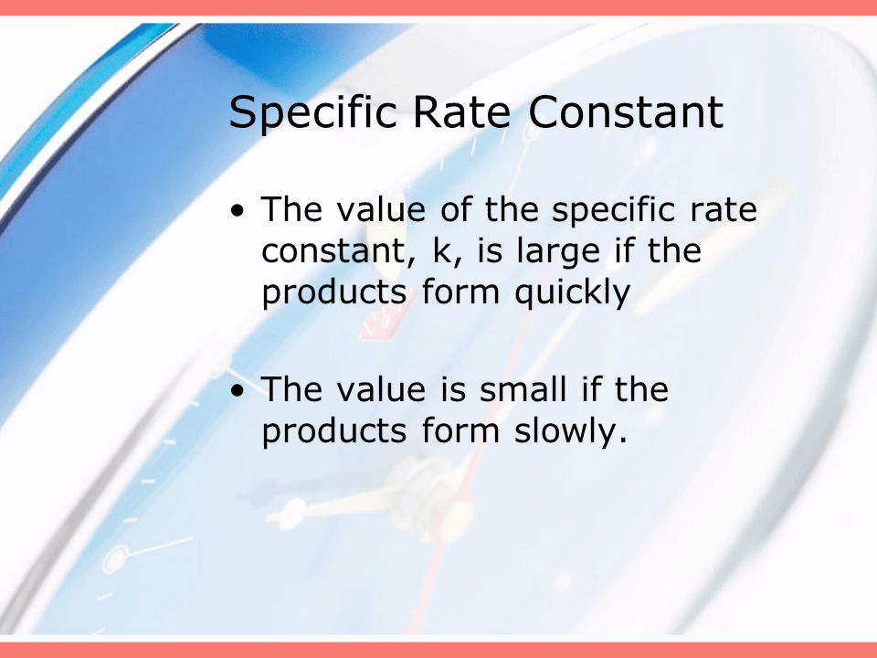 Specific Rate Constant