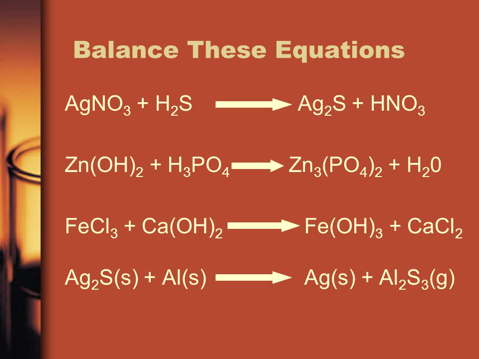 Balance These Equations