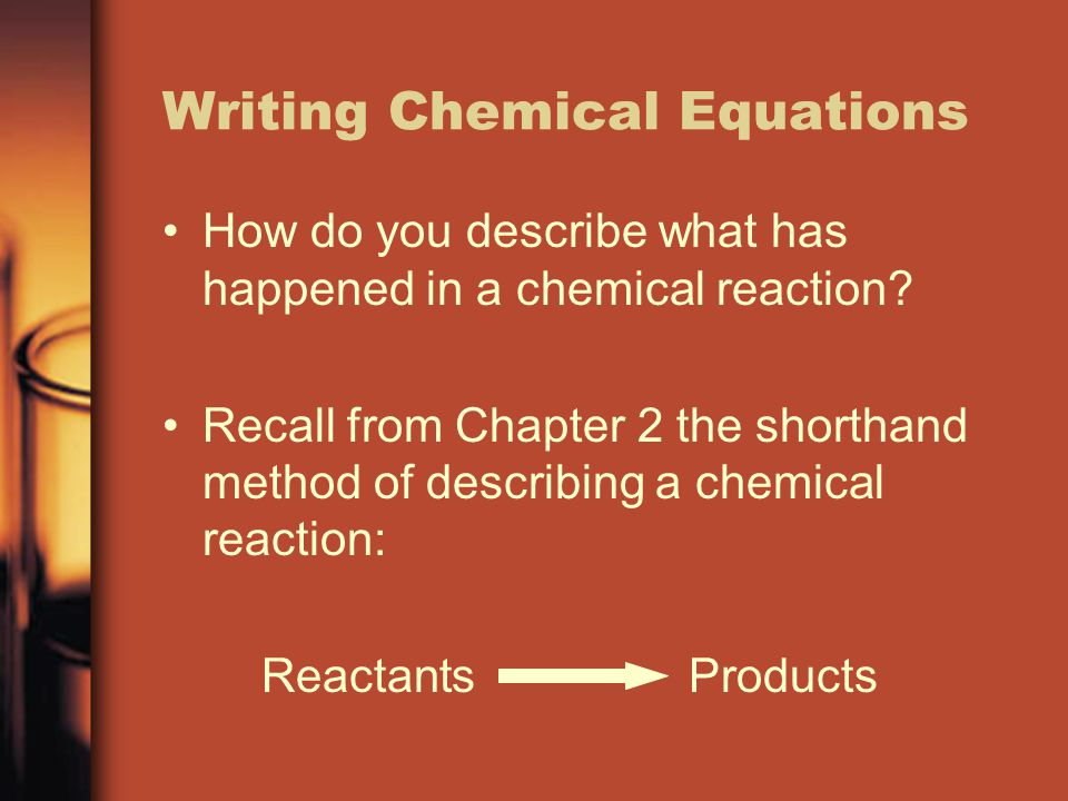 how to write products of chemical equations