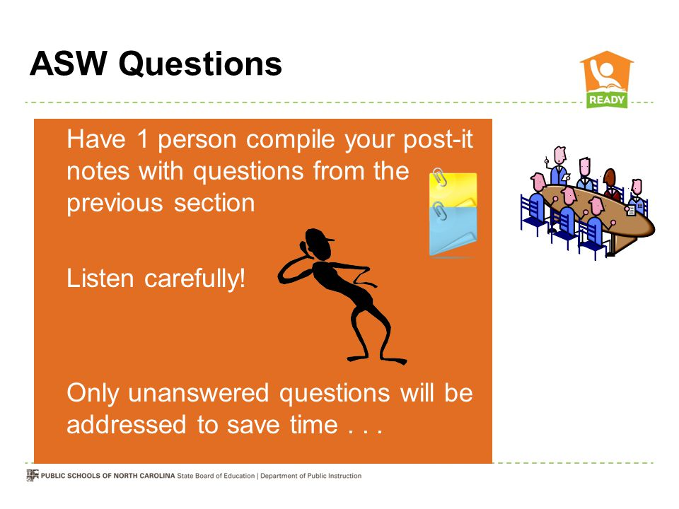 ASW Questions Listen carefully!