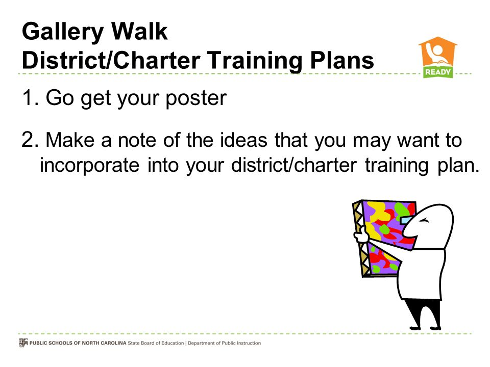 Gallery Walk District/Charter Training Plans