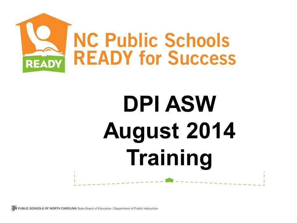 DPI ASW August 2014 Training