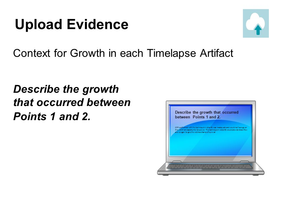 Upload Evidence Context for Growth in each Timelapse Artifact
