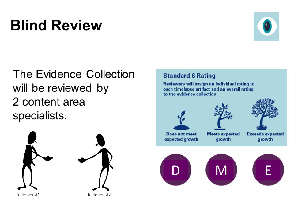 Blind Review The Evidence Collection will be reviewed by 2 content area specialists. E. D. M. Reviewer #1.