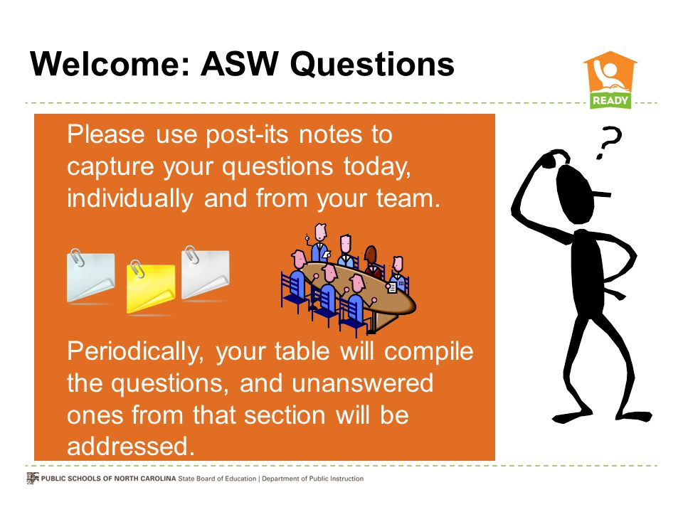 Welcome: ASW Questions