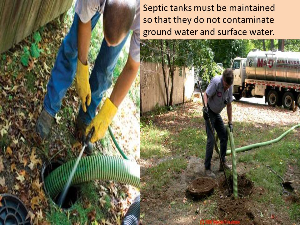 Septic tanks must be maintained