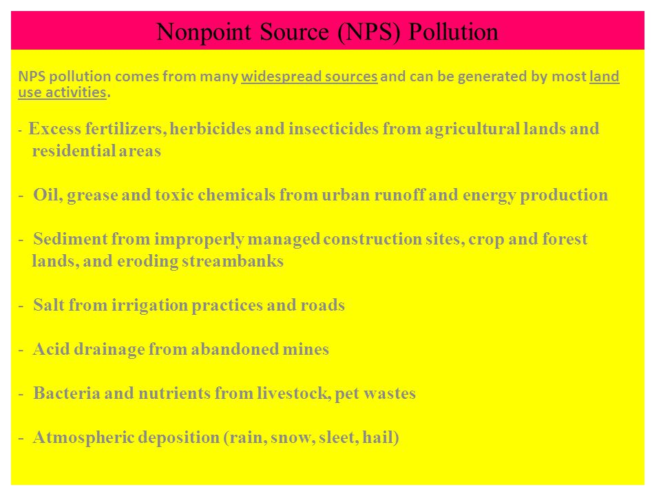 Nonpoint Source (NPS) Pollution