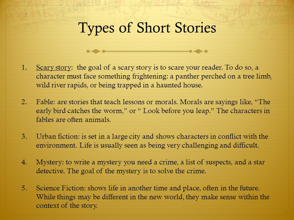 steps to writing an interesting short story ppt video online  6 types
