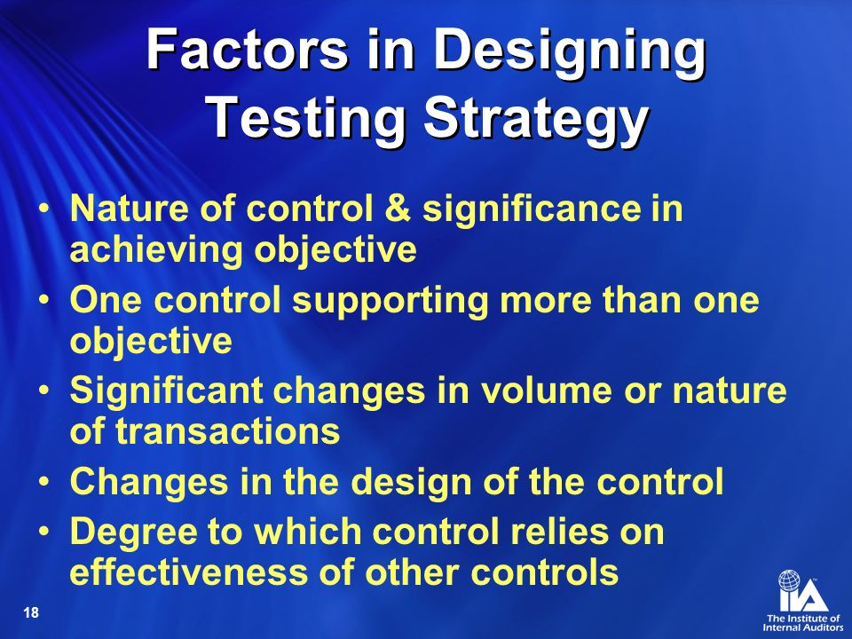 Factors in Designing Testing Strategy