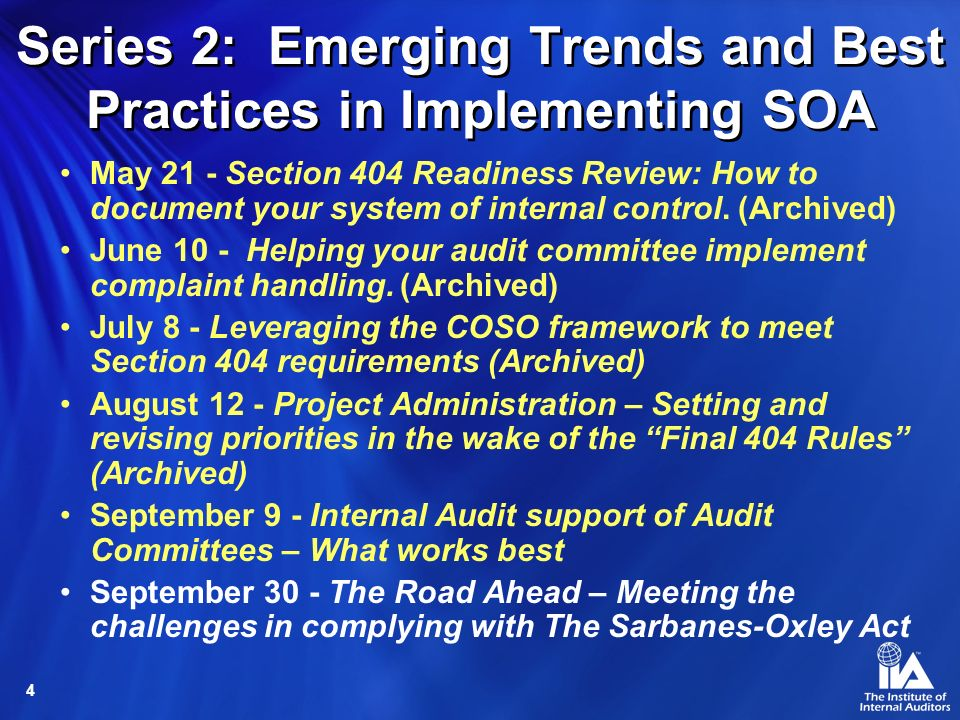 Series 2: Emerging Trends and Best Practices in Implementing SOA