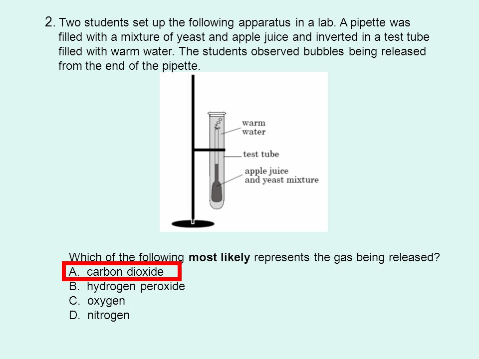 2. Two students set up the following apparatus in a lab. A pipette was