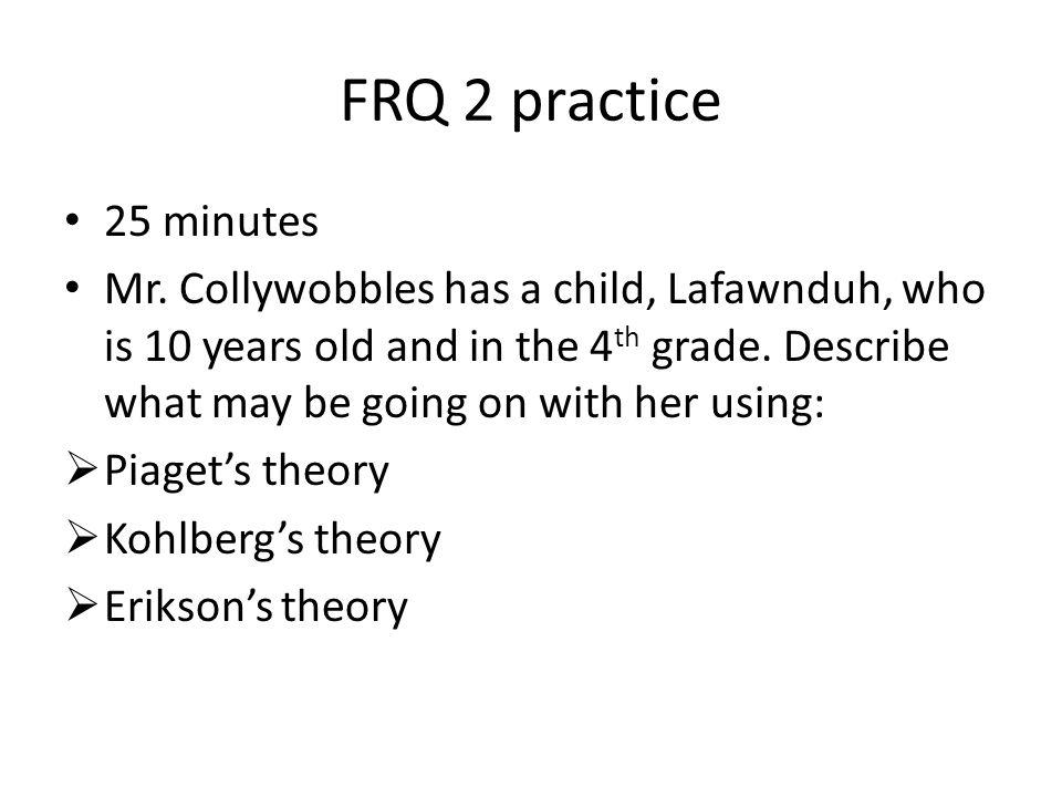FRQ 2 practice 25 minutes.