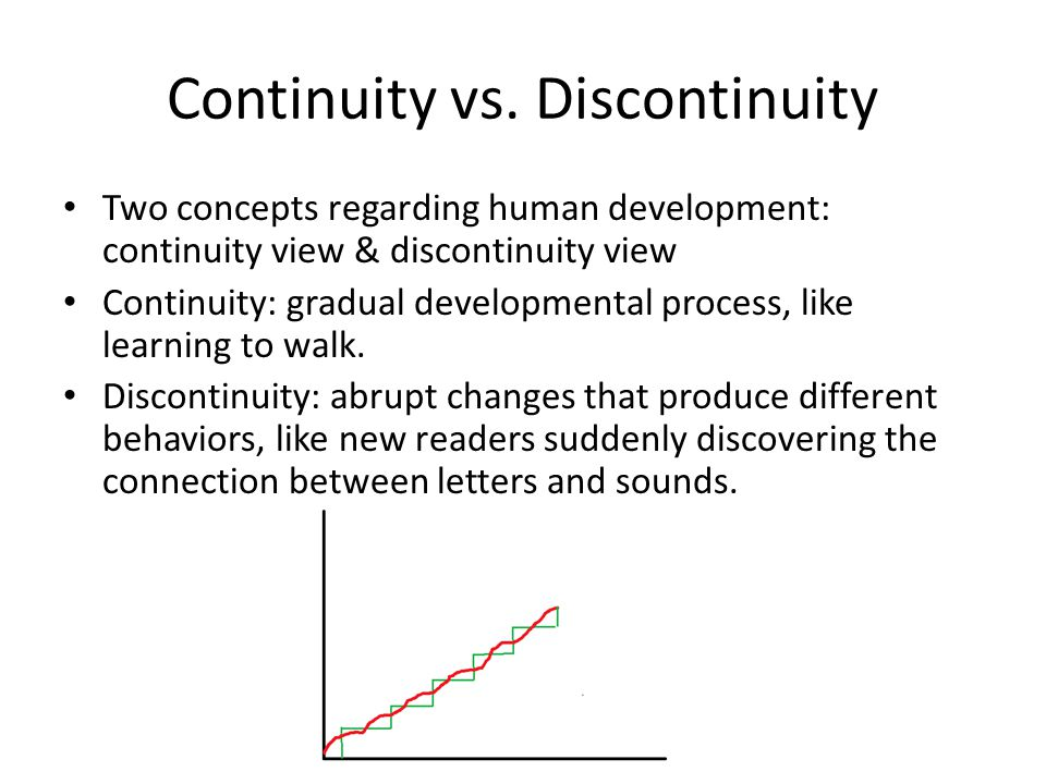 Continuity vs. Discontinuity