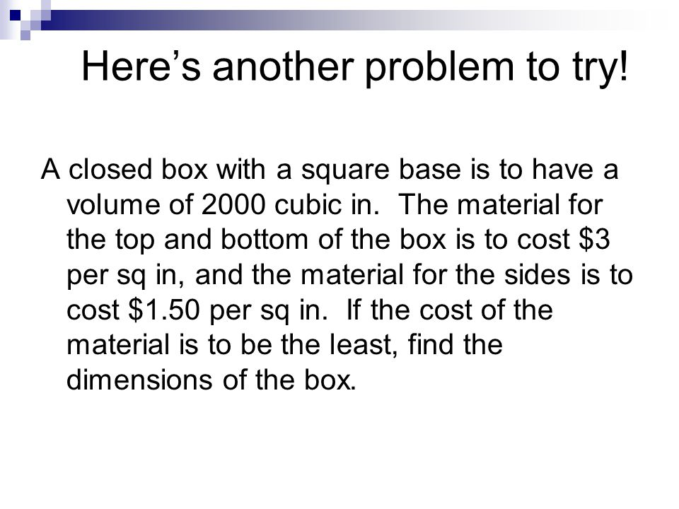 Here's another problem to try!