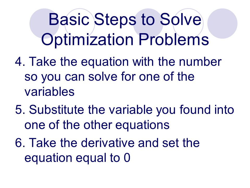 how to solve optimization problems with 3 variables