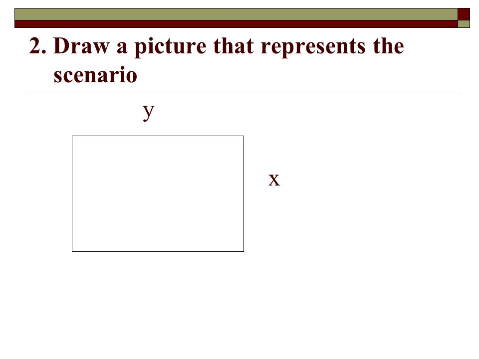 2. Draw a picture that represents the scenario