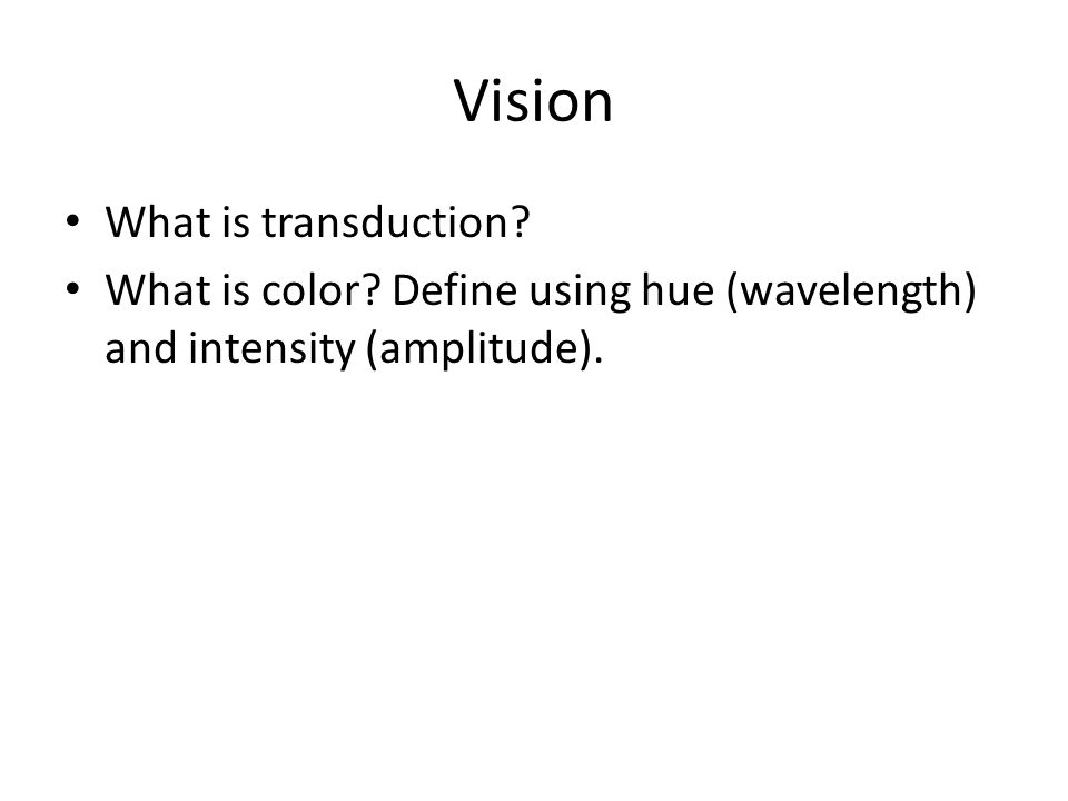 Vision What is transduction