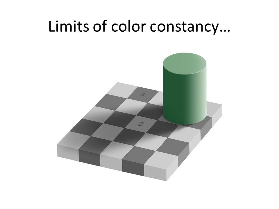 Limits of color constancy…