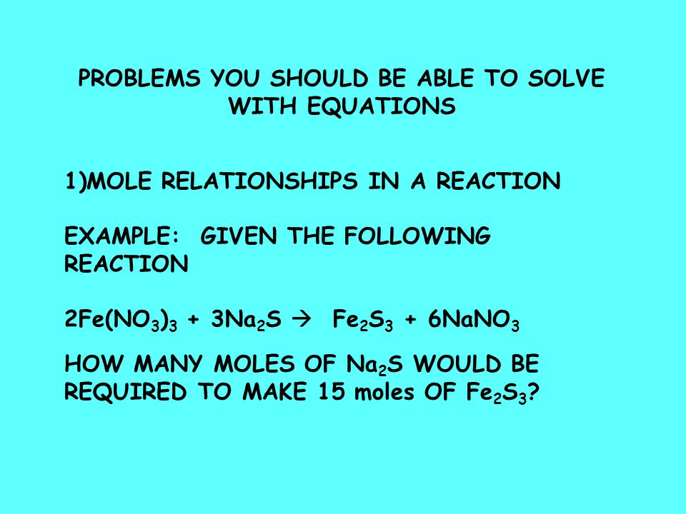PROBLEMS YOU SHOULD BE ABLE TO SOLVE
