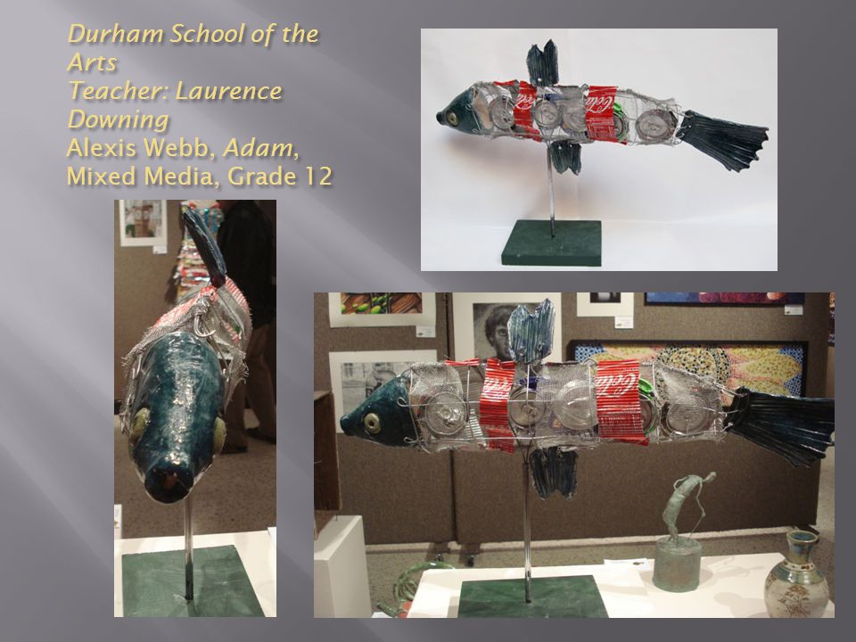 Durham School of the Arts Teacher: Laurence Downing Alexis Webb, Adam, Mixed Media, Grade 12