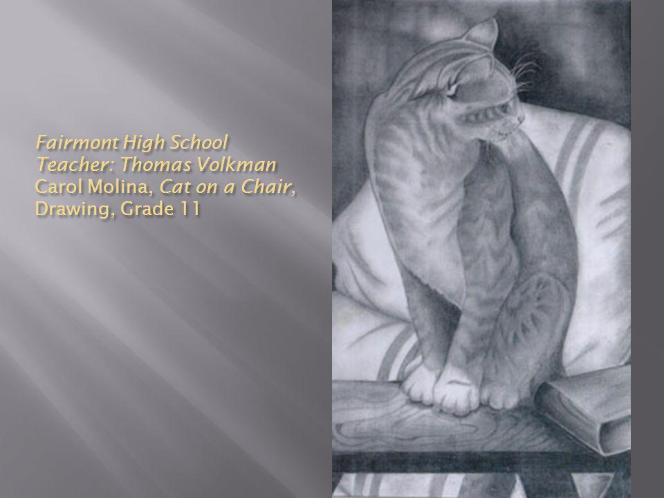 Fairmont High School Teacher: Thomas Volkman Carol Molina, Cat on a Chair, Drawing, Grade 11